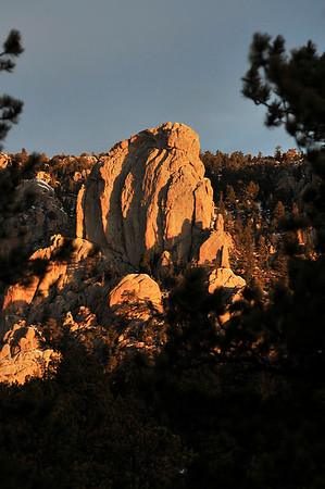 Walt Hester | Trail Gazette<br /> Morning sunshine casts shadows across the Twin Owls on Wednesday. Much of last week's snow has melted away, but could return over the weekend.