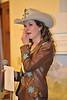 Walt Hester | Trail Gazette<br /> Kellsie Purdy wipes away tears of joy while thanking family, friends and sponsors at the Miss Rodeo Colorado Coronation and Sponsor Recognition Dinner at Lakeshore Lodge on Saturday. Kellsie has been involved in rodeo, including Estes Park's Rooftop Rodeo from a very young age.