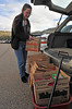 Walt Hester | Trail Gazette<br /> Cynda Basch of Estes Park loads up a wagon with cookies at the Estes Park Middle School on Wednesday. Basch was helping her daughter deliver the annually-celebrated confection.