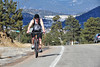 Walt Hester | Trail Gazette<br /> A cyclist takes advantage of the warm Tuesday temperature to get a little saddle time in along South St. Vrain Avenue. Outdoor cycling will be hit-and-miss for a few months, with spring storms sure to disrupt a training schedule.