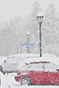 Walt Hester | Trail Gazette<br /> Snow piles up at the post office on Friday. More than six inches of the white stuff fell in and around Estes Park last week with an outside chance of more on Friday.