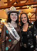 Walt Hester | Trail Gazette<br /> Kellsie Purdy and the 2009 Miss Rodeo Colorado, Audra Dobbs of Denver, take a moment at Purdy's sponsor recognition dinner on Saturday.