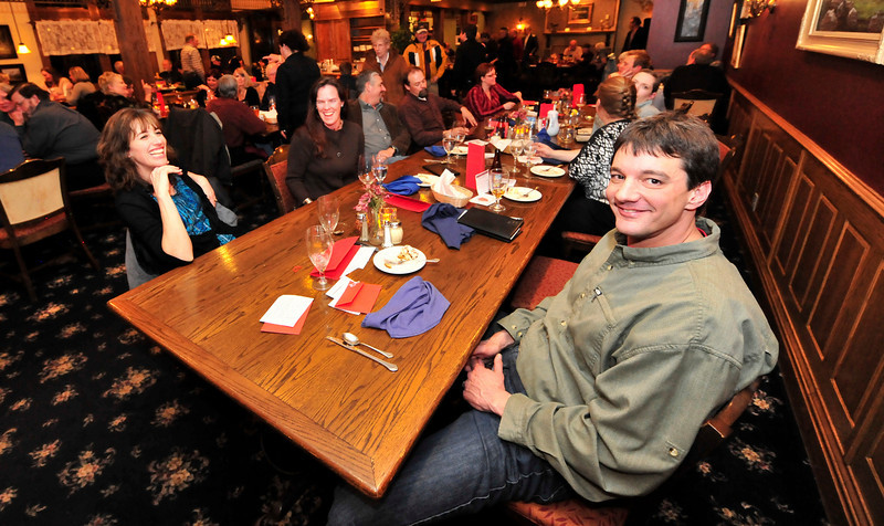 Walt Hester | Trail Gazette<br /> Dave and Marcy Kiser spend a little time out at the Partner's Red Envelope Diner on Thursday night. The event raises money for the organization which provides mentors for community kids.