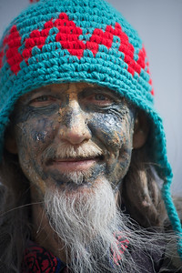 Walt Hester | Trail Gazette The face of Frozen Dead Guy Days prepares for a busy day. The king and queen of the event, now in it's tenth year, are crowned on Friday night.