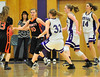 Walt Hester | Trail Gazette<br /> Ladtcats defense collapses on Bennett's Emilie Adams during the first round of the state playoffs last week. The Estes Park girls faced Pagosa Springs on Thursday, check eptrail.com and the Trail-Gazette's Facebook page for results and updates.