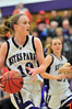 Walt Hester | Trail Gazette<br /> Kimmy Hansen, Kyra Stark and the rest of the Estes Park Ladycats continue their drive on Thursday at Moby arena for the Girls State Basketball Championship. The Ladycats will play Undefeated girls of Pagosa Springs at 5:30 on Thursday evening.