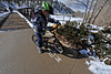 Walt Hester | Trail Gazette<br /> A young rider negociates his way around snow piles behind the Convention and Visitors Bureau on Sunday. A blanket of between two and four inches of the white stuff fell over night in and around Estes Park, but had all but melted away by Monday evening.
