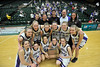 Walt Hester | Trail Gazette<br /> The Estes Park Ladycats show off their latest addition to the trophy case, the Consolation Champions. This is the first time the Ladycats have brought a win home from Fort Collins.