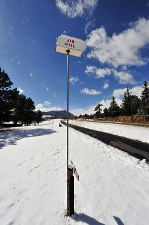 Walt Hester | Trail Gazette<br /> A humorous landmark towers over the paved path along South St Vrain Avenue on Sunday.