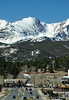 Walt Hester | Trail Gazette<br /> Winds blow snow over the high peaks of the divide above Estes Park on Saturday. The morning sarted calm and cloudless.