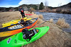 Walt Hester | Trail-Gazette<br /> Kayaker Jeff Evans of Boulder awaits fellow paddlers just below the Olympia Dam spillway on Saturday for a late-season ride down the Big Thompson River. Evans said that he and his friends were happy to get one last ride in before the end of their season.