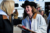 Walt Hester | Trail-Gazette<br /> Kellsie Purdy beams on Saturday after receiving a horse trailer for her reign as Miss Rodeo Colorado. Many of the Rooftop Rodeo Committee and local business owners helped to give the former Rooftop Rodeo Queen the trailer for her 2011 reign.