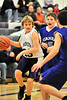 Walt Hester | Trail-Gazette<br /> Estes Park Middle School's Tanner Stark looks for a lane as he drives against Turner Middle School on Monday. The seventh grade Bobcats were have difficulty with Turner's size in the first half of their tilt.