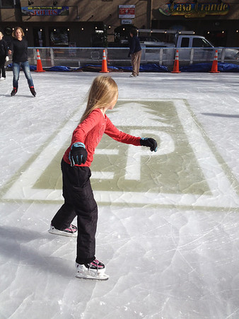 A young skater glides around the Estes Park Ice rink shortly after it opened Nov. 21.