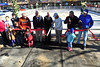 Town officials cut the ribbon on the new ice rink across Elkhorn Avenue from Bond Park on Friday. The rink will be open weekends through February and into March, weather permitting.