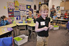 Photo by Walt Hester<br /> Second-grade student Dacien Dunn prepares to start her first day of second grade on Monday. Students of the Park R3 district reported back to class rooms this week to start the new school year.