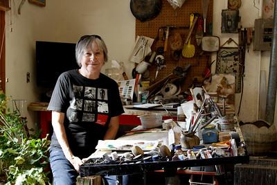 Loretta in one of the studios
