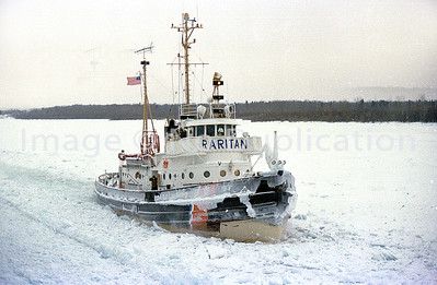 USCG RARITAN, cutting river ice . . . probably St. Mary's River