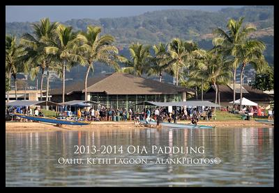 12-21-13  OIA 2013-2014 High School Paddling Long Distance Race at Ke'ehi Lagoon, Oahu HI.