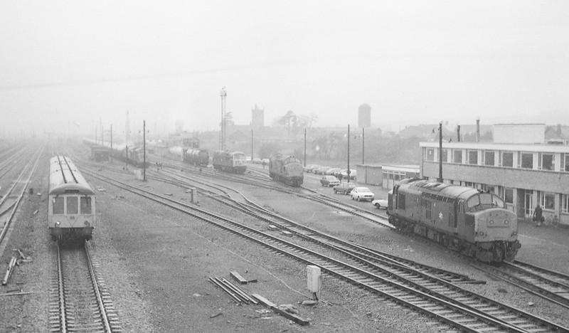 37180, stabling point, Severn Tunnel Junction, 10-12-85.