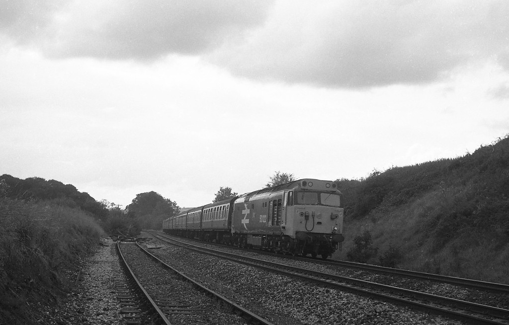 50022, 14.15 Paignton-Swansea, Whiteball, 30-8-86.