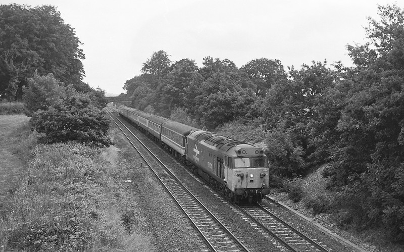 50041, 23.50 Glasgow-Penzance, Willand, near Tiverton, 19-7-86.