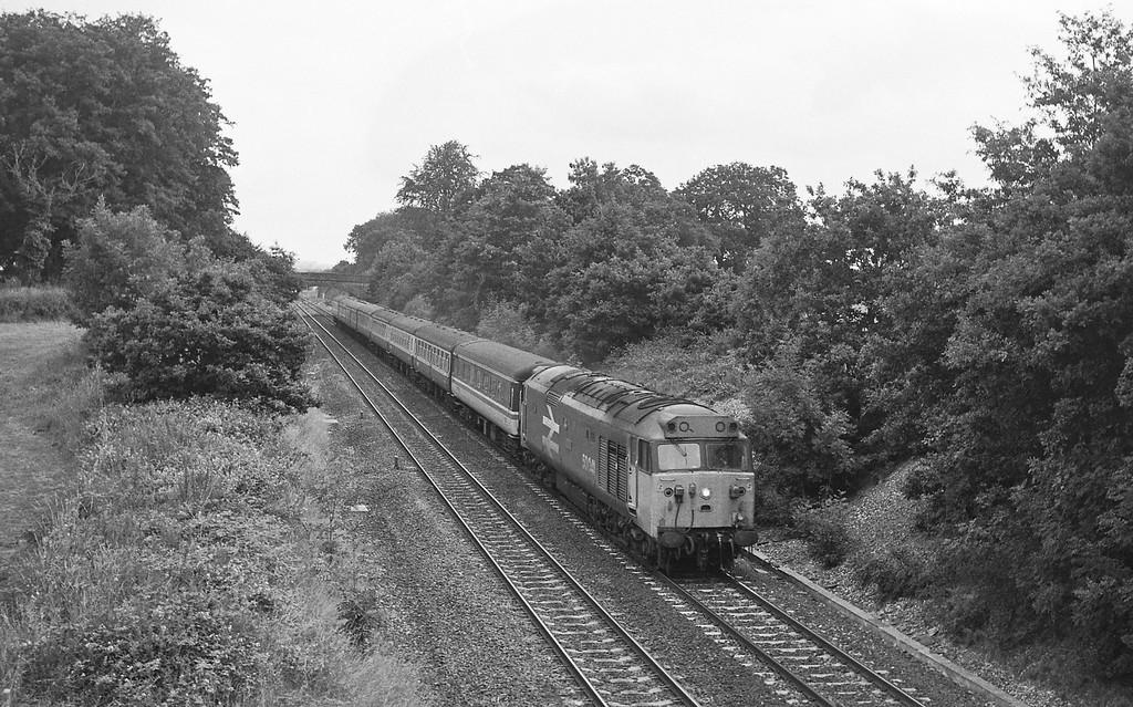 50041, 23.50 Glasgow-Penzance, Willand, near Tiverton, 19-7-86.