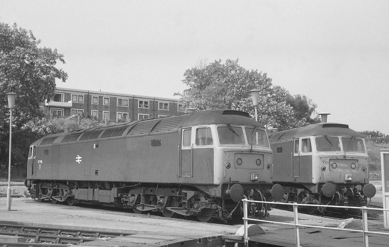 47148/47626, stabled, Old Oak Common TMD, 21-6-86.