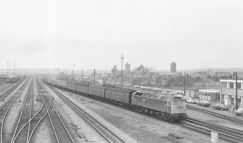 47616, up vans, Severn Tunnel Junction, 11-3-86.