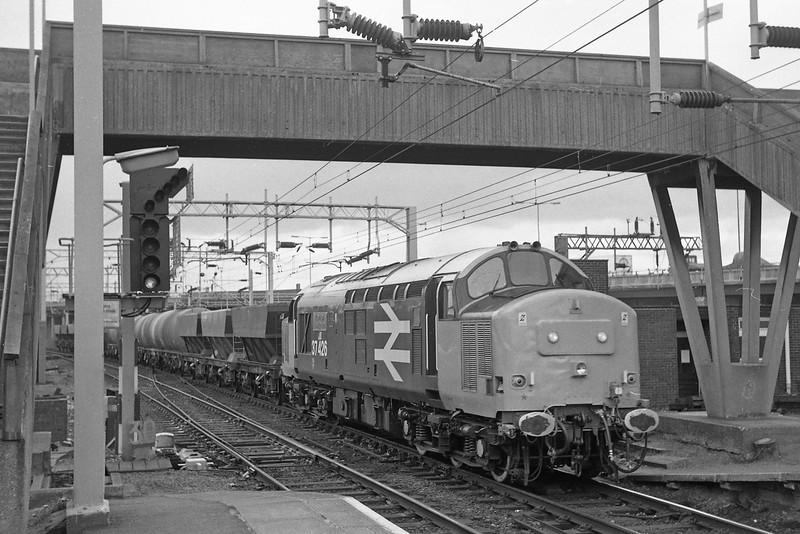 37426, up freight, Bescot, 13-5-86.