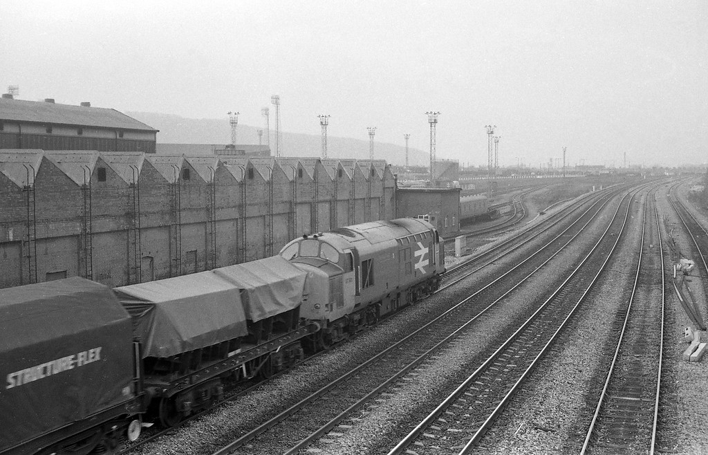 37901, down freight, Cardiff Canton, 3-2-87.