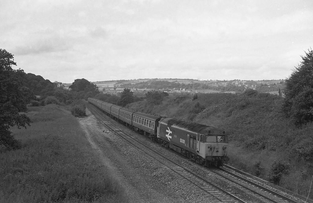 50001, 09.25 Newquay-Newcastle, Whiteball, 11-7-87.