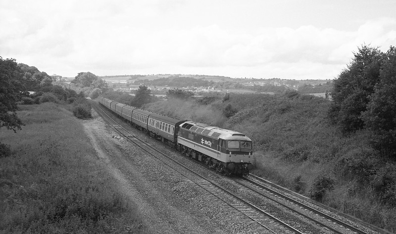 47622, 09.55 Penzance-Leeds (late), Whiteball, 11-7-87.