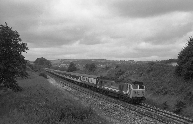 50044, 08.18 Penzance-Aberdeen, Whiteball, 11-7-87.