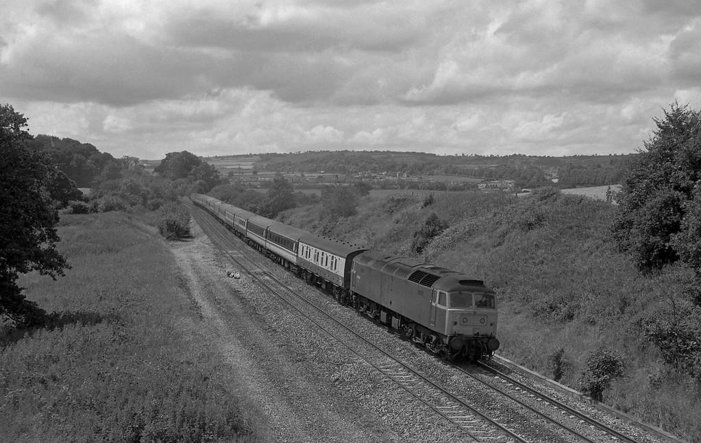 47608, 10.30 Penzance-Glasgow, Whiteball, 11-7-87.