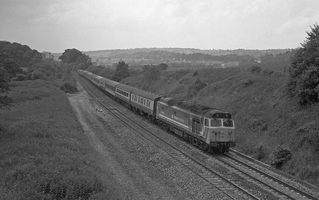 50044, 10.30 Penzance-Glasgow, Whiteball, 20-6-87.