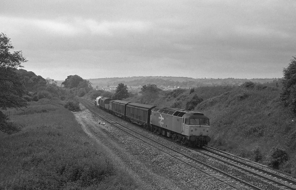 47190, St Blazey-Undy freight, Whiteball, 19-6-87.