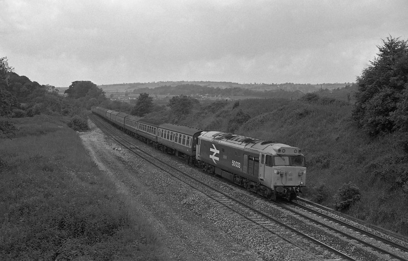 50033, 11.00 Paignton-Newcastle, Whiteball, 20-6-87.
