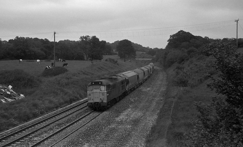 31404, down freight, Whiteball, 19-6-87.