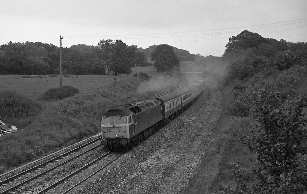 47442, 07.20 Glasgow-Penzance, Whiteball, 19-6-87.