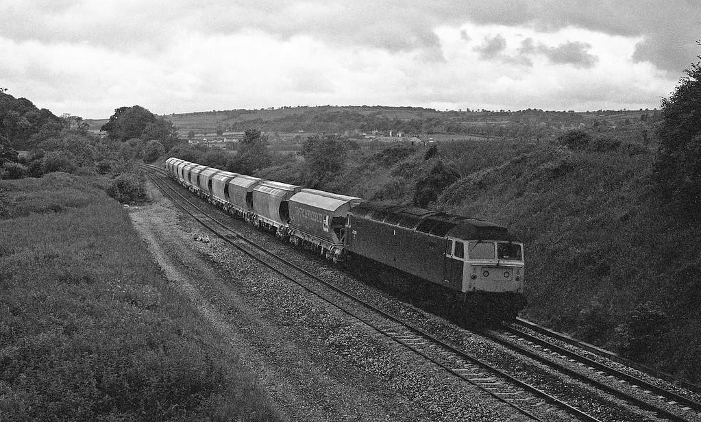 47339, up freight, Whiteball, 17-6-87.