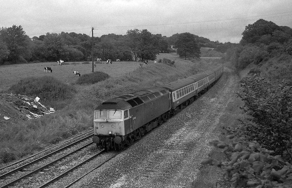 47436, 23.50 Glasgow-Plymouth, Whiteball, 19-6-87.