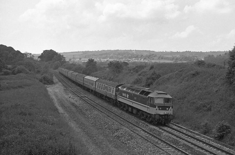47549, 09.52 Penzance-Leeds, Whiteball, 20-6-87.