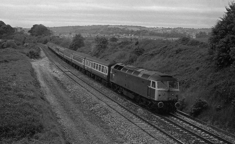 47473, 10.15 Paignton-Glasgow, Whiteball, 30-5-87.