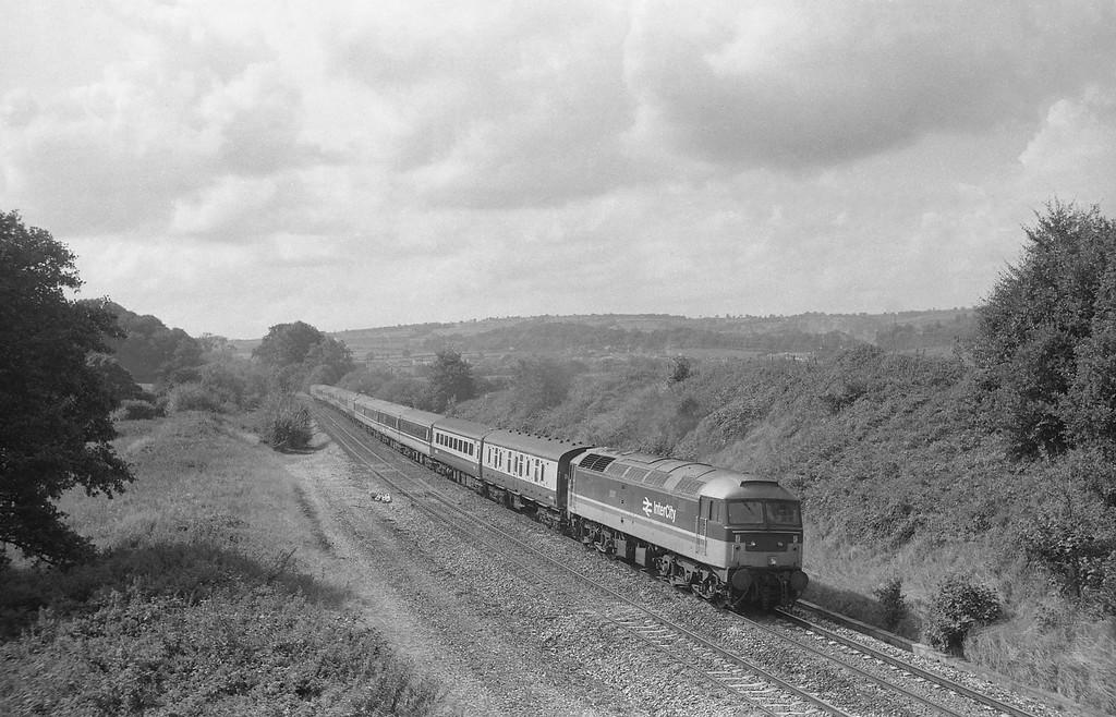 47612, 10.27 Penzance-Glasgow, Whiteball, 8-9-87.