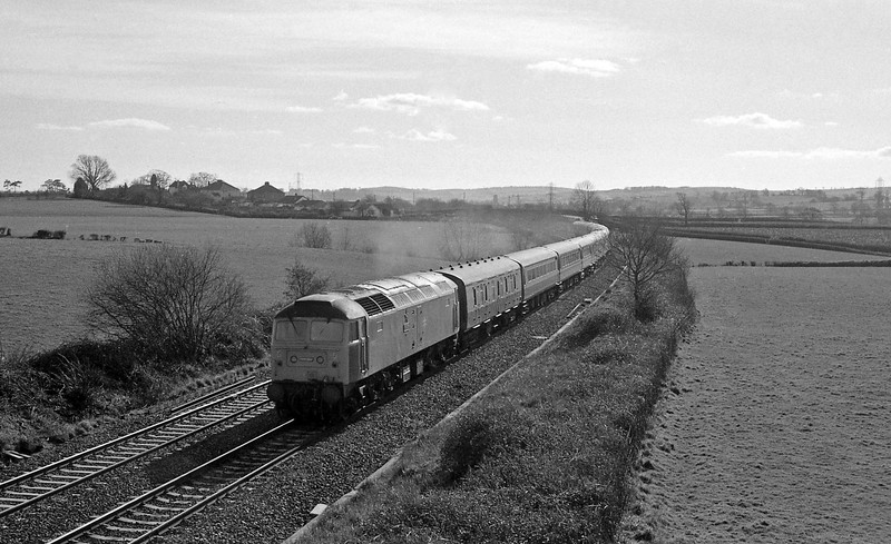 47567, Penzance-Glasgow, Willand, near Tiverton, 16-2-88.