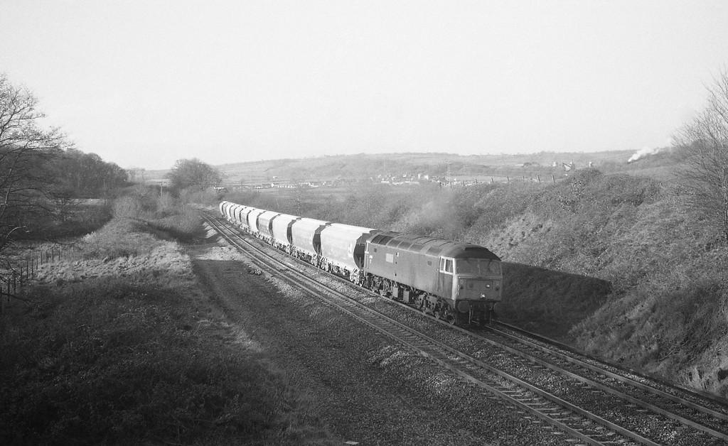 47015, up freight, Whiteball, 14-1-88.