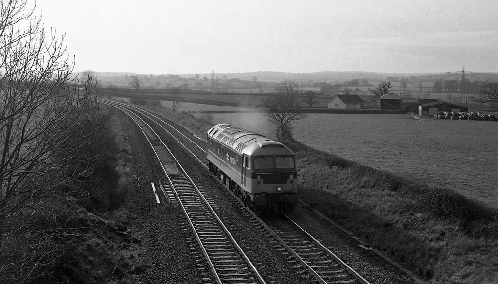 47606, up light into Tiverton Loops, Willand, near Tiverton, 13-1-88.