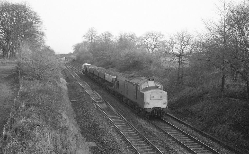 37141, down freight, Willand, near Tiverton, 13-1-88.