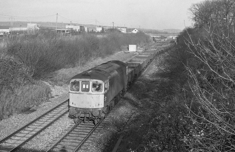 33020, down departmental leaving Tiverton Loops, Willand, near Tiverton, 13-1-88.